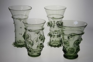 Water and spirits goblets - historical glass