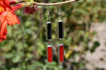 earrings - historical glass