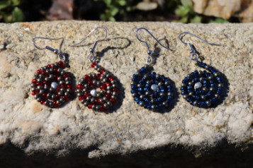 earrings made of beads - historical glass