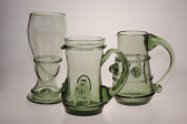 Beer mug with bladed zigzag - 28 - historical glass