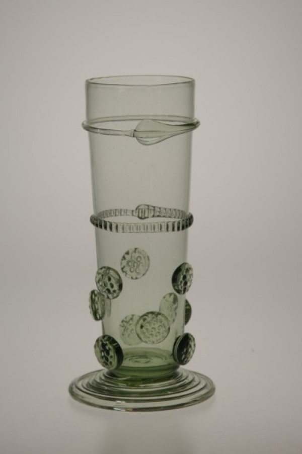 Renaissance goblet with raspberries - small - 29 - historical glass