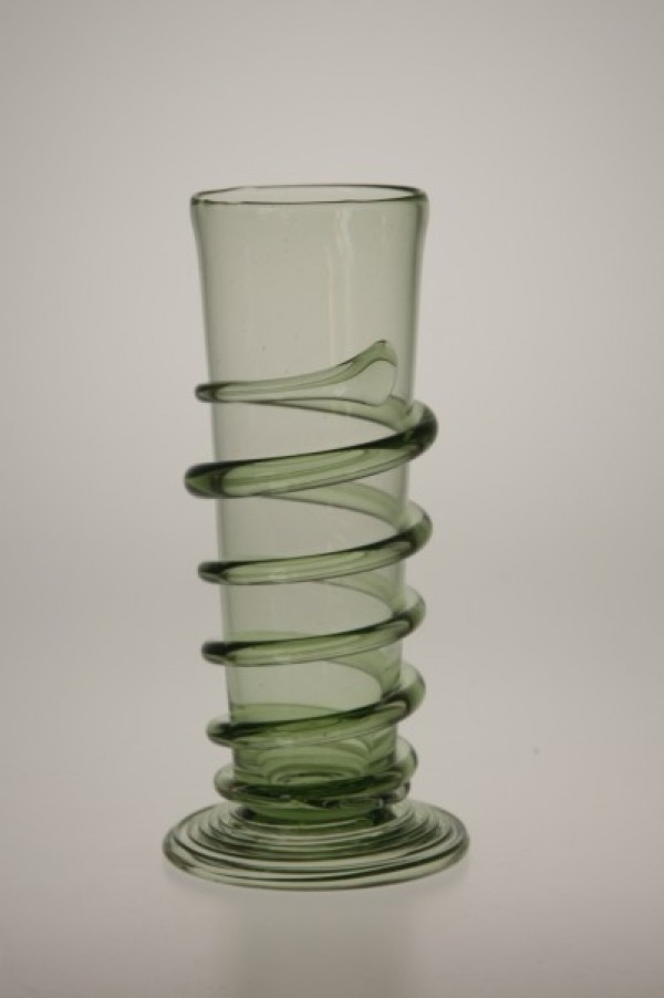 Renaissance goblet with spin - small - 31 - historical glass