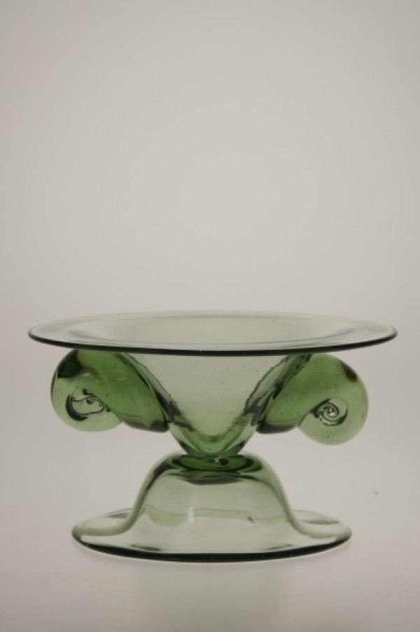 Candlestick with snails - 23 - historical glass