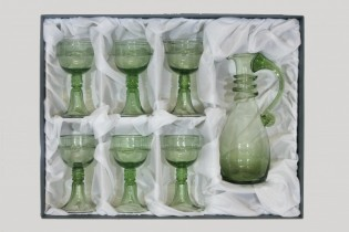 Set - Carafe and 6 pcs Courtesan Veronica Franco - D-53+6x18 - historical glass