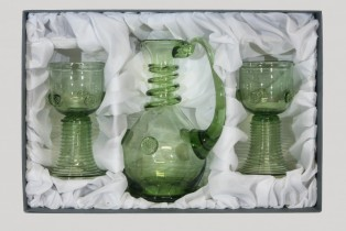 Set - Carafe and Romer straight - D-1+2x05 - historical glass