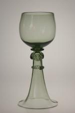 Set - 6 pcs of Wedding goblets - historical glass