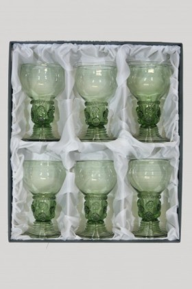 Set - 6 pcs of Romer II - D-6x42 - historical glass