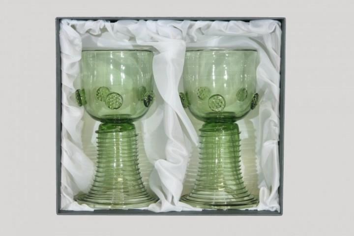 Gift package - 2 goblets Romer straight - D-2x05 - historical glass