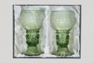 Gift package - 2 goblets Romer - D-2x42 - historical glass