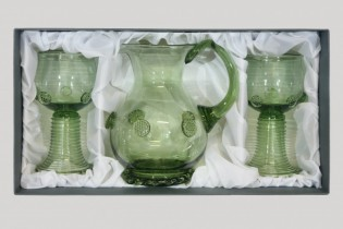 Set -Pitcher and Romer round - D-35+2x21 - historical glass