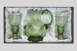 Set -Pitcher and Romer - D-35+2x42 - historical glass