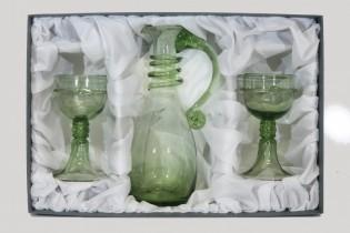 Set - Carafe bowling and goblets-Courtesan Veronica Franco - D-1+2x18 - historical glass