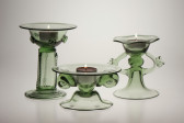 Candlestick with handles - 34 - historical glass