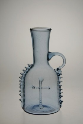 Small bottle blue - 880M - historical glass