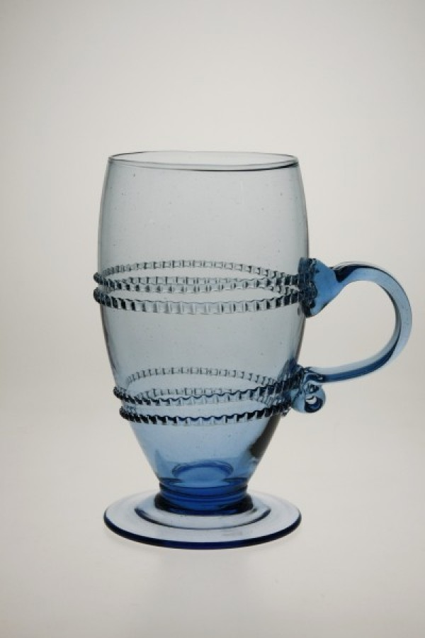 Glass decorated with winding with handle - 811M - historical glass