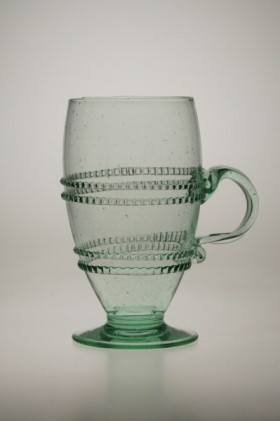 Glass decorated with winding with handle - 811Z - historical glass