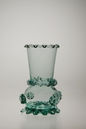 Vase turquoise - 853tyrkys - historical glass