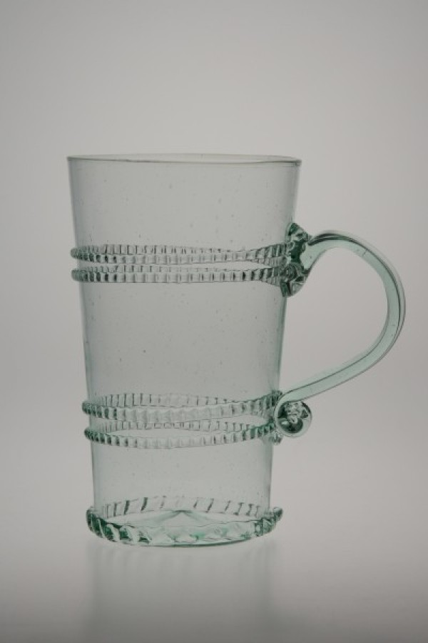 Glass decorated with winding with handle straight - 810Z - historical glass