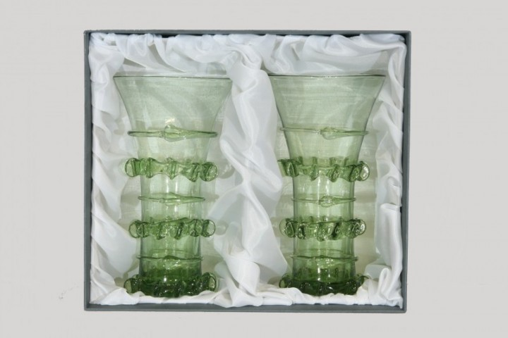 Gift package - 2 Gothic goblets - D-2x61 - historical glass