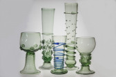 Gothic goblet with stickers - 64 - historical glass