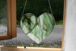heart - historical glass