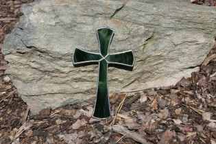 cross green - historical glass