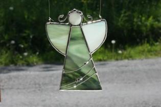 Angel green - historical glass