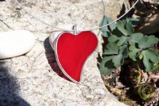 jewel heart love - historical glass