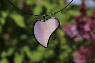 jewel heart purple - historical glass