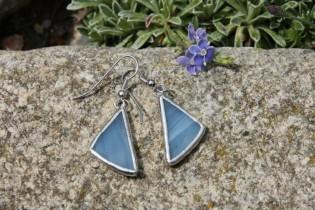 earrings sky - historical glass