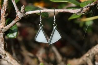 earrings snow - historical glass