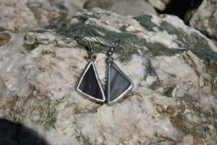 earrings smoke - historical glass