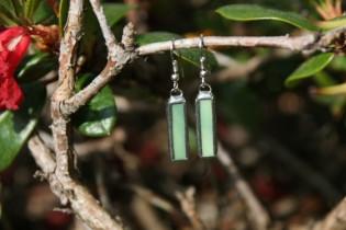 earrings green 2 - historical glass