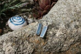 earrings sky small - historical glass