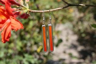 earrings red 4 - historical glass
