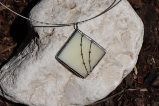 jewel beige - historical glass