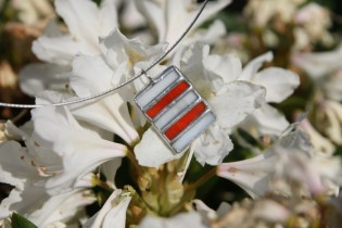 jewel red and white - historical glass