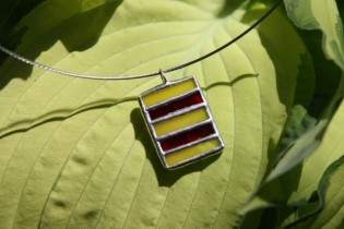 jewel red and yellow - historical glass