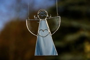 Angel from the sea - historical glass