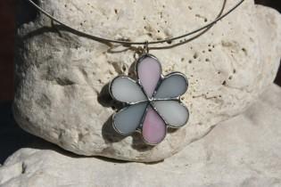 jewel flower three colors - historical glass