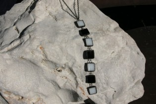 jewel black and white - historical glass