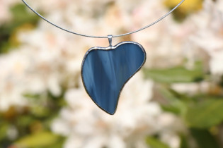 jewel heart from the sea - historical glass