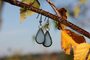 earrings from the sea - historical glass