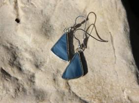 earrings sea - historical glass