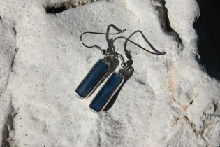 earrings  from the sea medium - historical glass