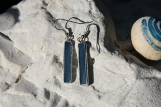 earrings from the sea long - historical glass