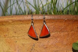 earrings hell - historical glass