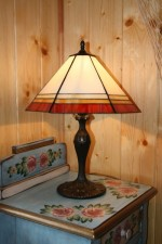 Tiffany lamps four-color - historical glass
