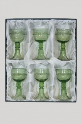 Set - 6 pcs of goblets Courtesan Veronica Franco - D-6x18 - historical glass