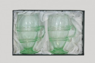 Gift package - 2 goblets with winding and ear II. - D-2x811Z - historical glass